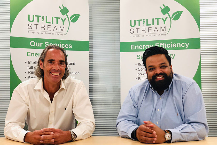 two founders of Utility Stream business