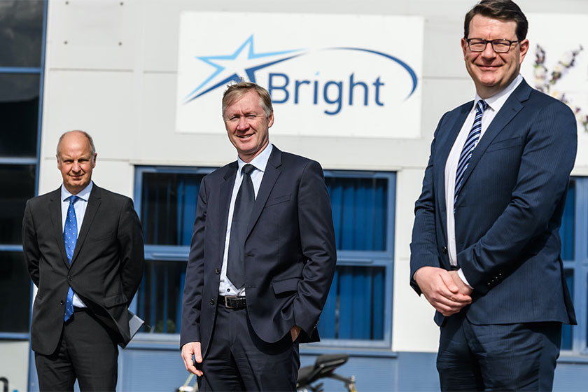 management of business pictured with Fund manager and bank representation