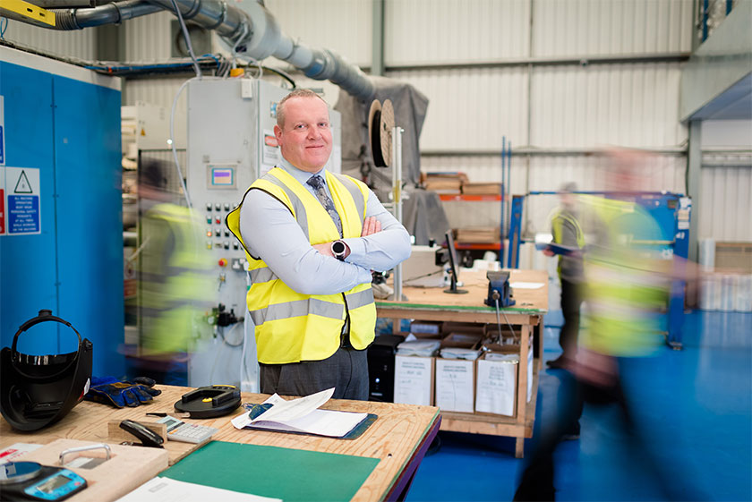 picture of man in factory environment